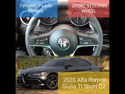 Sport Steering Wheel and Paddle Shifters on the 2020 Alfa Romeo Giulia