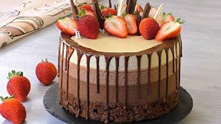 """ВЕЛИКОЛЕПНЫЙ МУССОВЫЙ ТОРТ """"Три Шоколада"""" ✧ Triple Chocolate Mousse Cake ✧ Марьяна"""