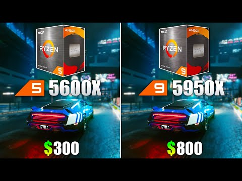 Ryzen 5 5600X vs Ryzen 9 5950X - How Big is the Difference in Games? |