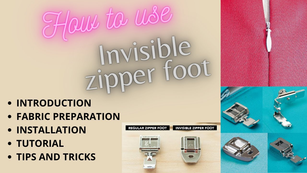 How to Use Invisible Zipper Foot - Installation & Tutorial