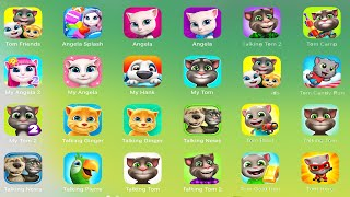 My Talking Tom 2,tom Jump,angela,candy Run,pool,gold Run,jetski,little Kitten,gi