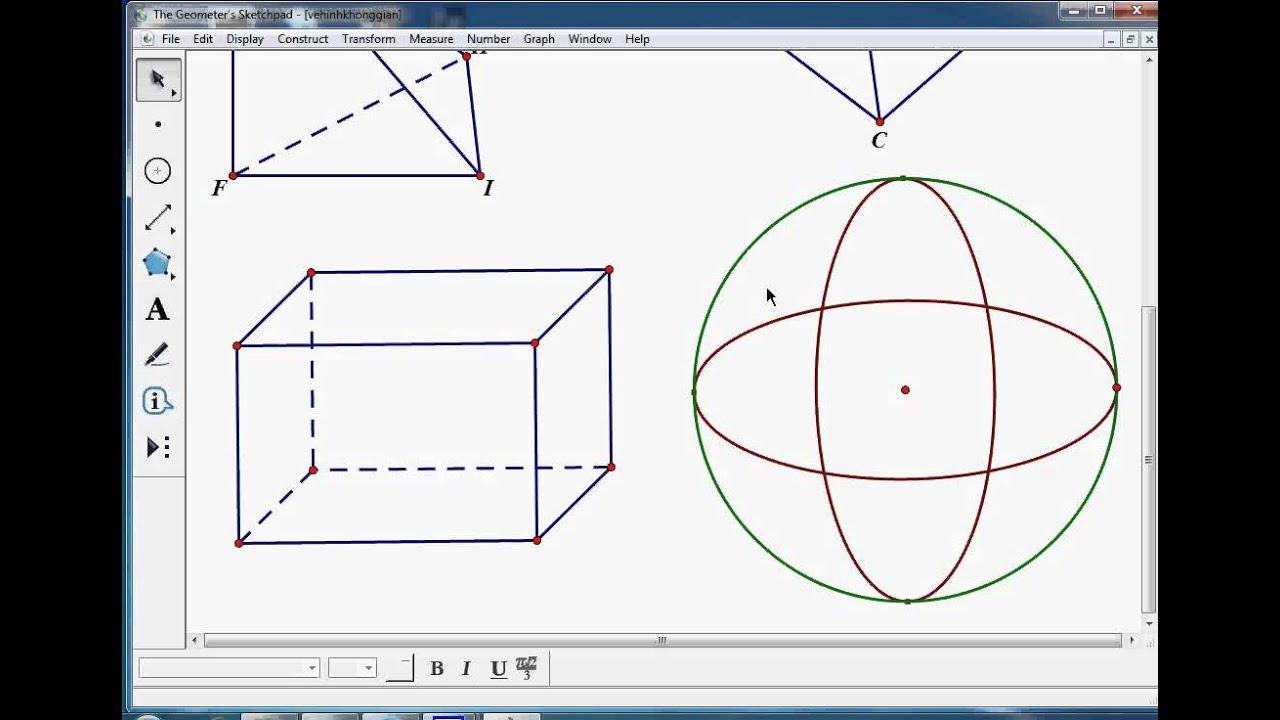 Hướng dẫn sử dụng GSP: Vẽ các hình không gian thường gặp