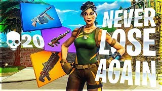 LOADOUT TO NEVER LOSE AGAIN! Solo 20K Game - Fortnite