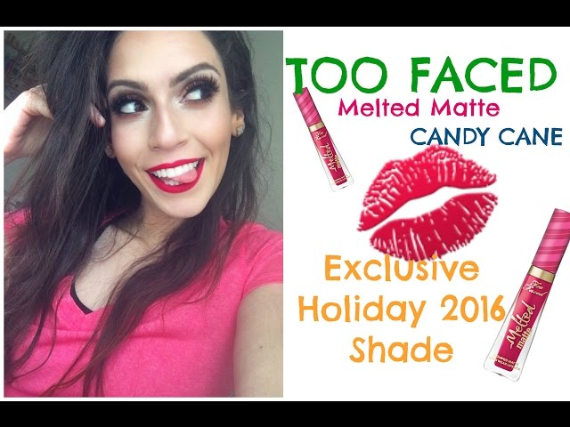 Too Faced - MELTED MATTE IN CANDY CANE Liquid Lipstick   REVIEW!