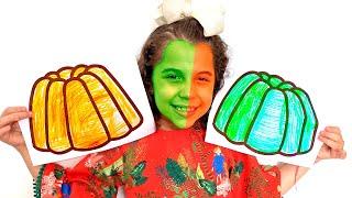 SARAH FINGE BRINCAR com gelatinas MÁGICAS e COLORIDOS
