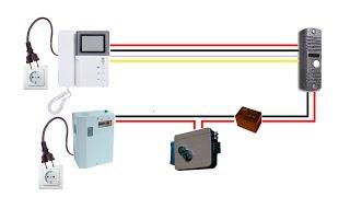 Подключение видеодомофона и электромеханического замка