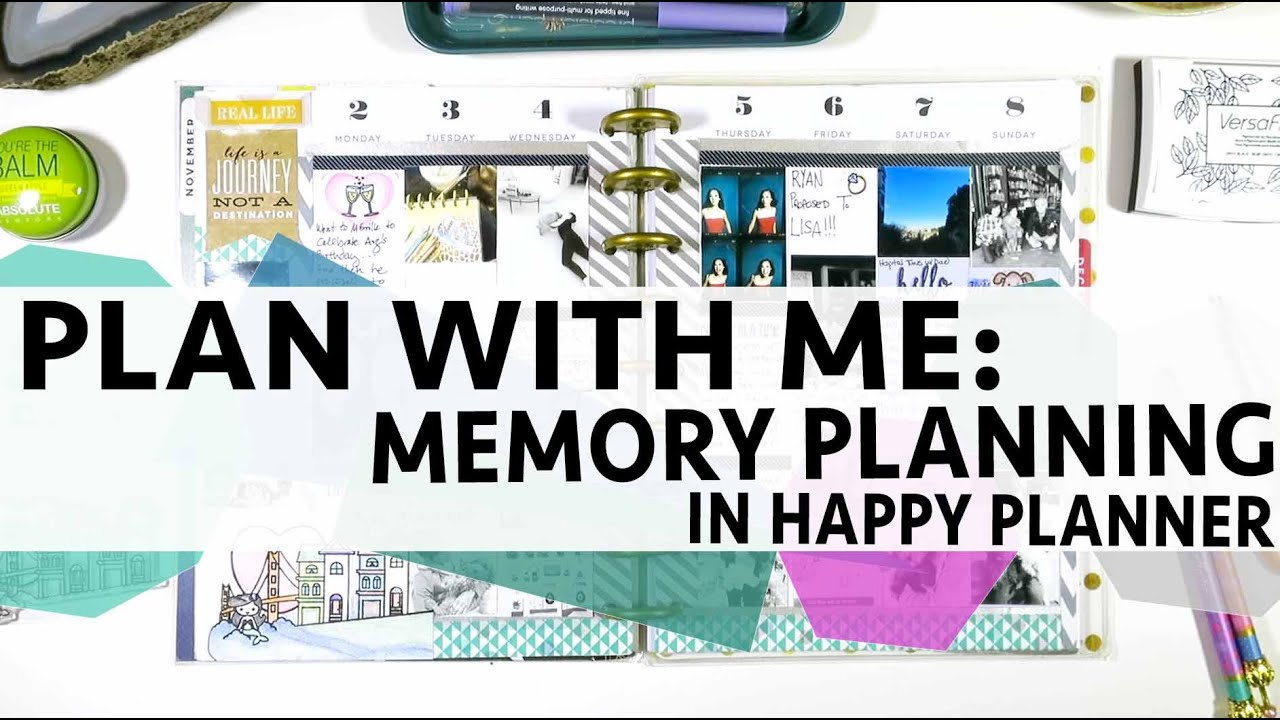 Plan with me memory planning in my happy planner youtube for Plan me