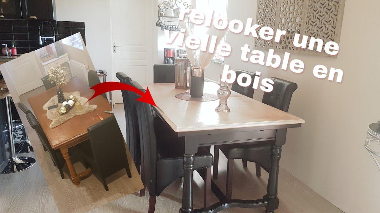 comment relooker une table en bois facilement et sans machine
