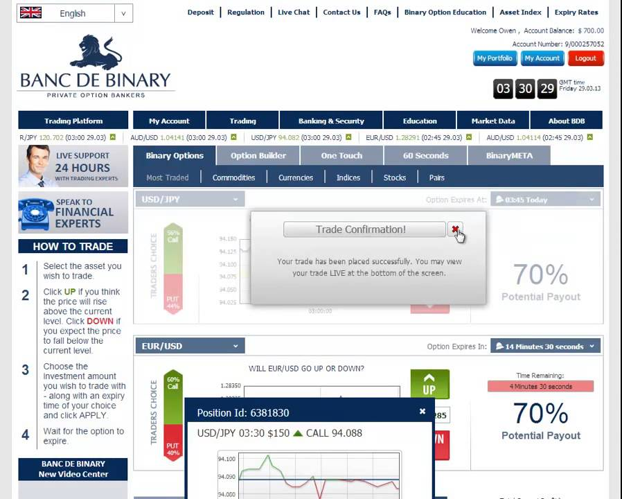 banc de binary broker review binary options trading demo account trade with broker tutorial. Black Bedroom Furniture Sets. Home Design Ideas