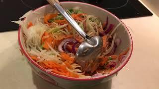 Как приготовить Сом Там- тайский папайя-салат