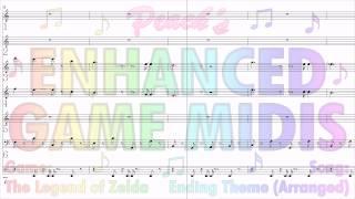"Enhanced Game MIDIs: ""Ending Theme (Arranged)"" from The Legend of Zelda"