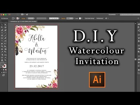 diy-watercolour-flower-invitation-tutorial-|-how-to-make-professional-invitations-using-illustrator