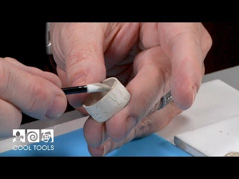 Cool Tools   EZ960® Textured Fold Over Silver Ring by Cindy Pope