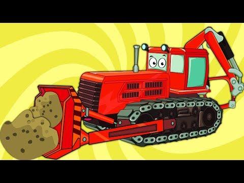 Развивающий Мультик про Машинки – Цветной Трактор Бульдозер (Новая Серия) - Весёлое Видео для Детей