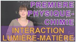 Interaction lumière / matière - Physique-Chimie - 1ère S - Les Bons Profs