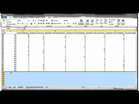 Marketing 377 - Using Excel for Data Analysis