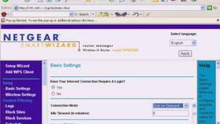 Netgear internet manual configuration