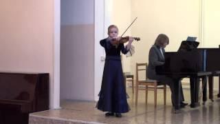 Алиса Губанова, 8 лет. Ш Данкля - Вариации на тему Вейгля.
