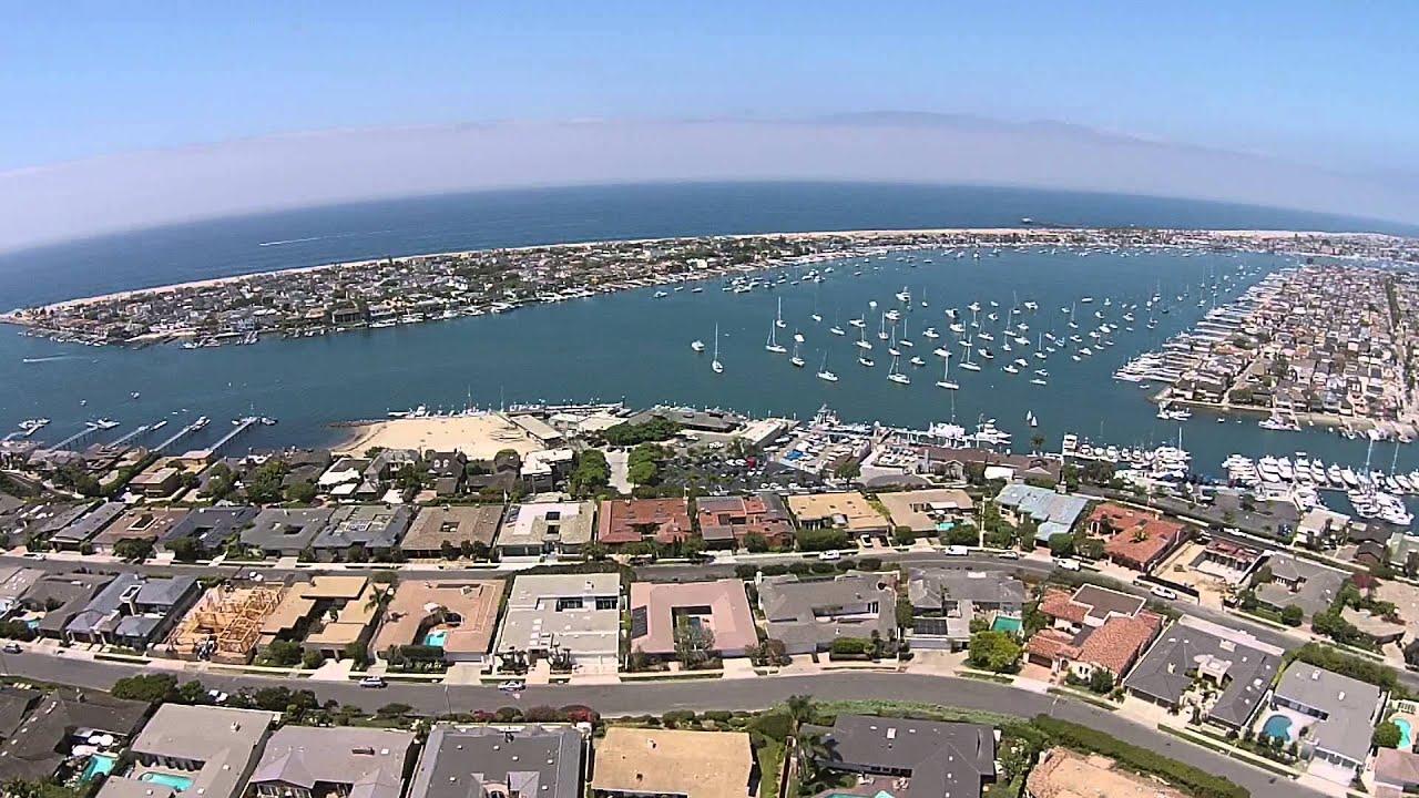 Corona del Mar Scenic Aerial Flight - Newport Harbor & PCH - DJI Phantom 2  Vision+ R/C Drone