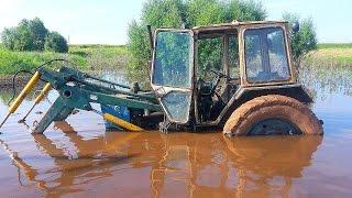 Тракторы на Бездорожье ЖЕСТЬ!⚠ Прут по грязи и снегу Трактористы профессионалы Tractors offroad NEW!