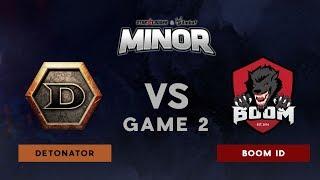 Detonator VS BOOM ID | Bo3 l UB R1 | StarLadder ImbaTV Dota 2 Minor SEA Qualifiers  | Game 2