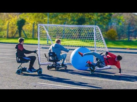 MOBILITY SCOOTER FOOTBALL MATCH | Slash Football