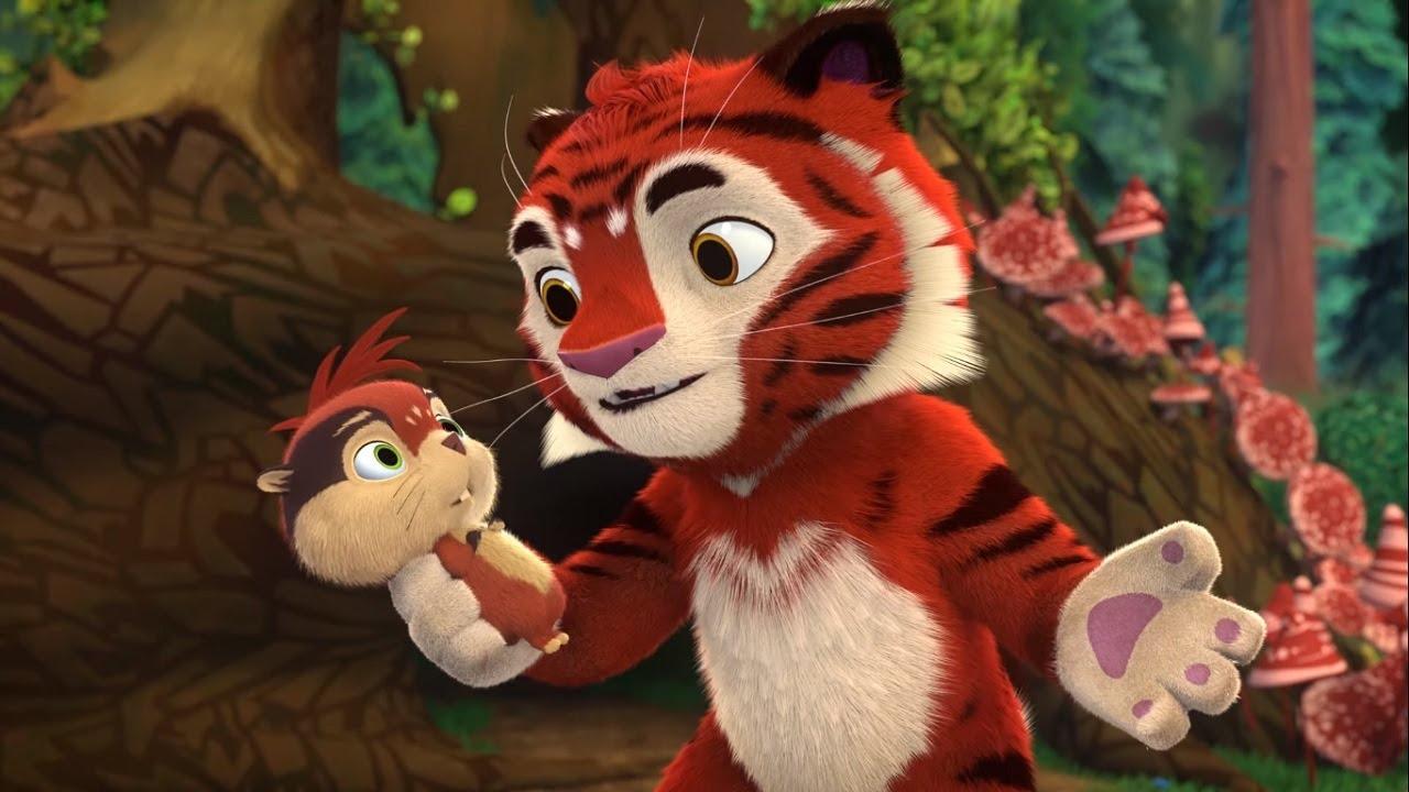 Мультики для детей – Лео и Тиг – Маленький подвиг – Про животных