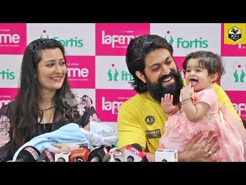Yash Radhika Pandit Reaction About Second Baby | Full Video | Radhika Pandit Discharge Press Meet
