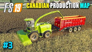 FS19 Canadian Production Map - Making Chaff From Barley, Hay Dryer, Harvesting Hops | Part 3