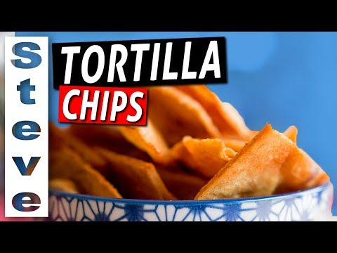 How to make chips from corn tortillas by baking