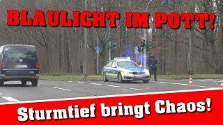 BLAULICHT IM POTT! | BÄUME KNICKEN UM | STRASSEN GESPERRT | VLOG