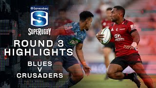 ROUND 3 HIGHLIGHTS | Blues v Crusaders – 2020