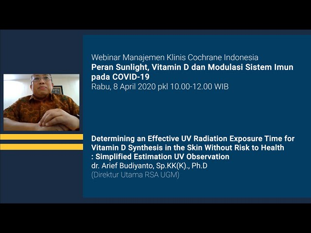 Determining an Effective UV Radiation Exposure Time for Vitamin D Synthesis in the Skin Without Risk