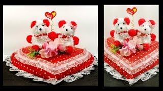 DIY Valentine's day gift | Teddy on heart Showpiece