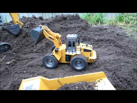 Strats RC - HuiNa Front loader & Dump truck first run (purchased from Banggood)