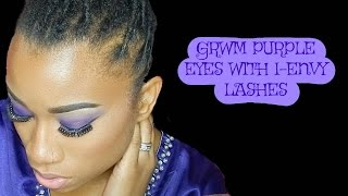 GRWM// Purple eye with V-Luxe by Envy Jeanette Lashes
