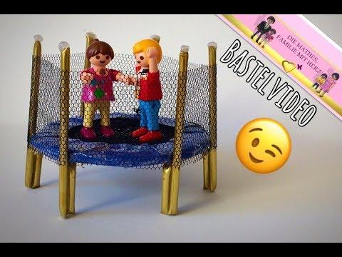 playmobil deutsch trampolin basteln kindervideo von familie mathes