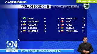 Tabla de posiciones Eliminatorias Qatar 2022 - Conmebol
