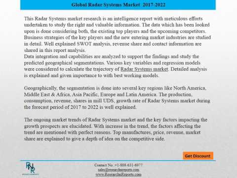 Global Radar Systems Market Report 2017