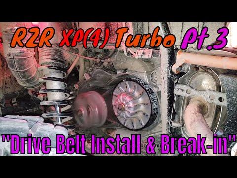 "RZR XP(4)Turbo Pt. 3 ""Drive Belt Install & Break-in"" | Irnieracing"