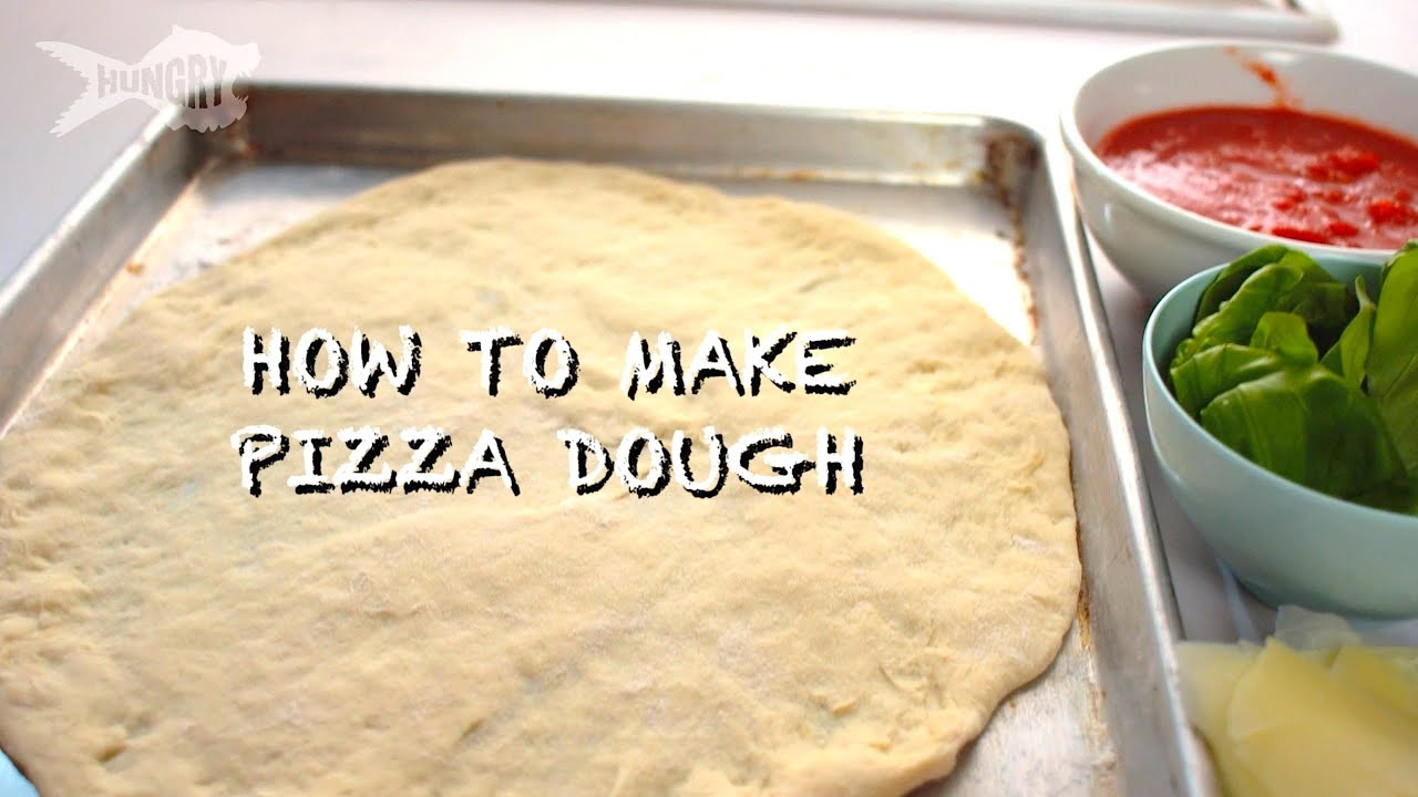 how to make pizza dough from scratch youtube