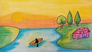 landscape drawing easy simple drawings beginners