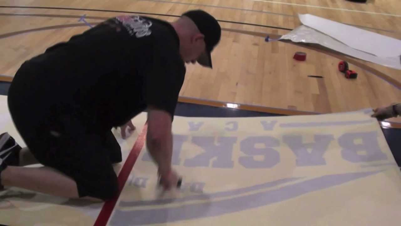 Basketball Court Installations Sanding Painting And
