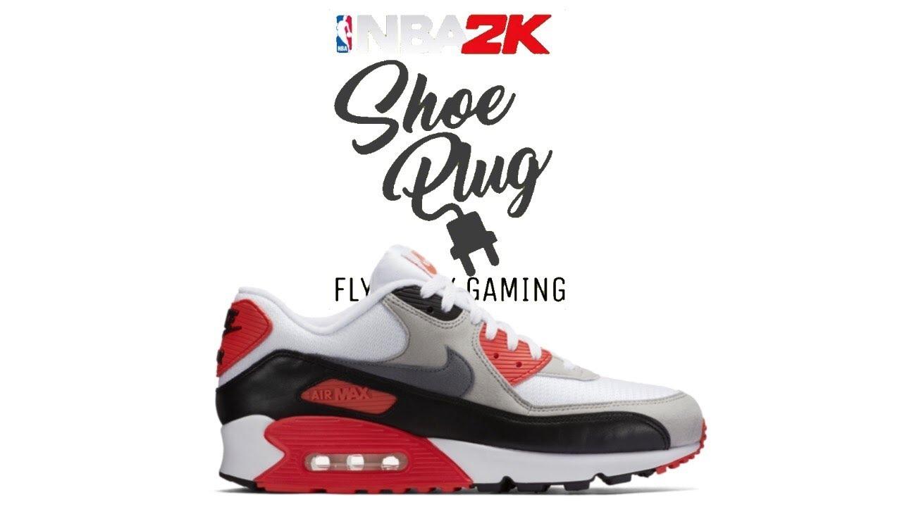 promo code c1cf4 17f28 NBA 2K19 NIKE AIR MAX 90 INFARED 👟🔌 shoe creator