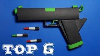 Топ 6 Кращих Паперовий Пістолет | Д Орігамі | Іграшкова Зброя