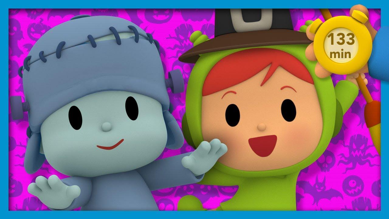 ☠  POCOYO E NINA - Trajes de Halloween [ 133min ]   DESENHOS ANIMADOS para crianças