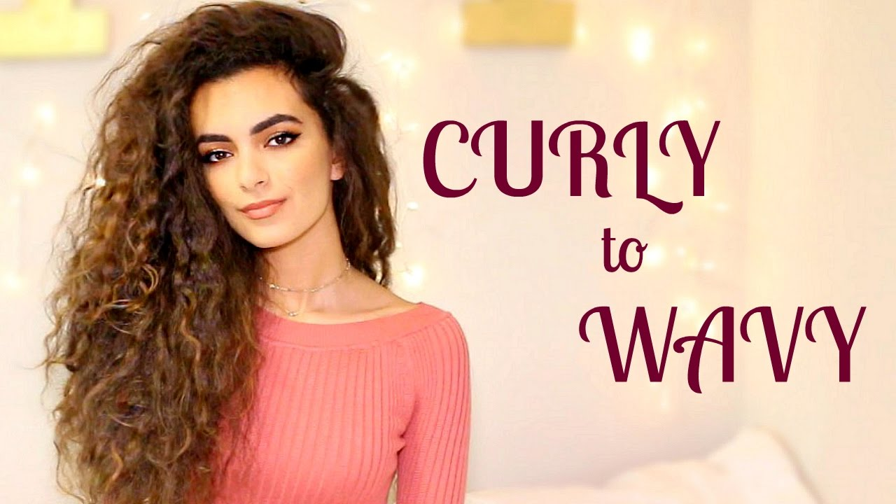 Hairstyle Tutorial: How I Go From CURLY To WAVY Hair