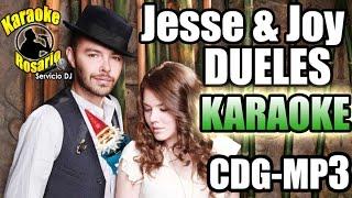 Jesse & Joy - Dueles (Karaoke Instrumental) (CON LETRA) ♬2016♬Cdg+Mp3