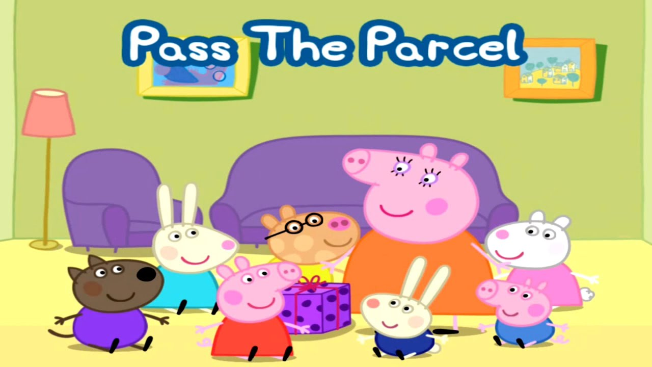 ☀ Peppa Pig Playing Pass The Parcel ☀ Peppa Pig Games ☀ Peppa