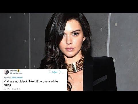 Kendall Jenner SLAMMED for Using Dark Skin Emoji